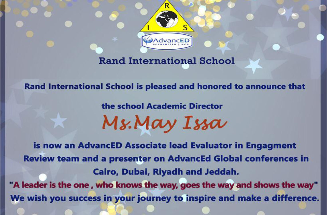 Our Academic Director is a Lead Evaluator in AdvancED Global Conference